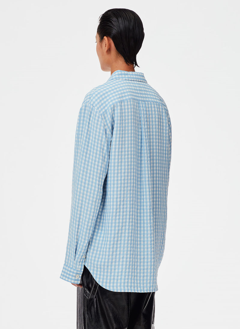 Viscose Gingham Relaxed Blouse Viscose Gingham Relaxed Blouse
