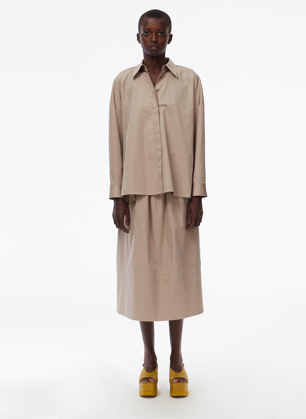 Eco Poplin Oversized Shirt