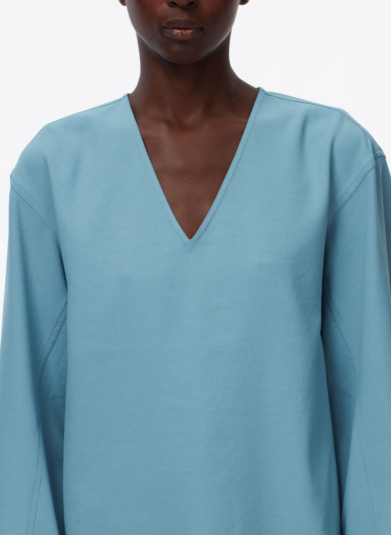 Chalky Drape Sculpted Long Sleeve Top Chalky Drape Sculpted Long Sleeve Top