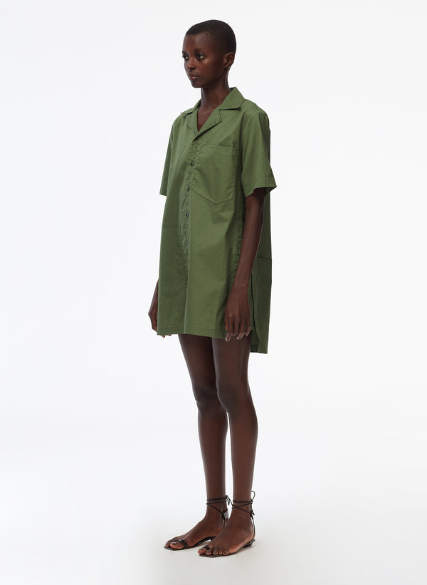 Feather Weight Cotton Twill Camp Dress