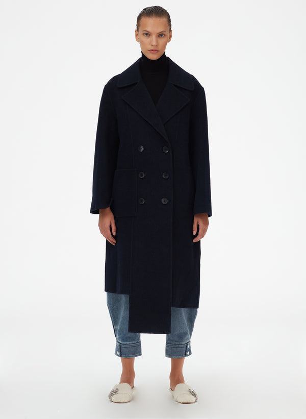 Luxe Double Faced Wool Angora Carwash Coat