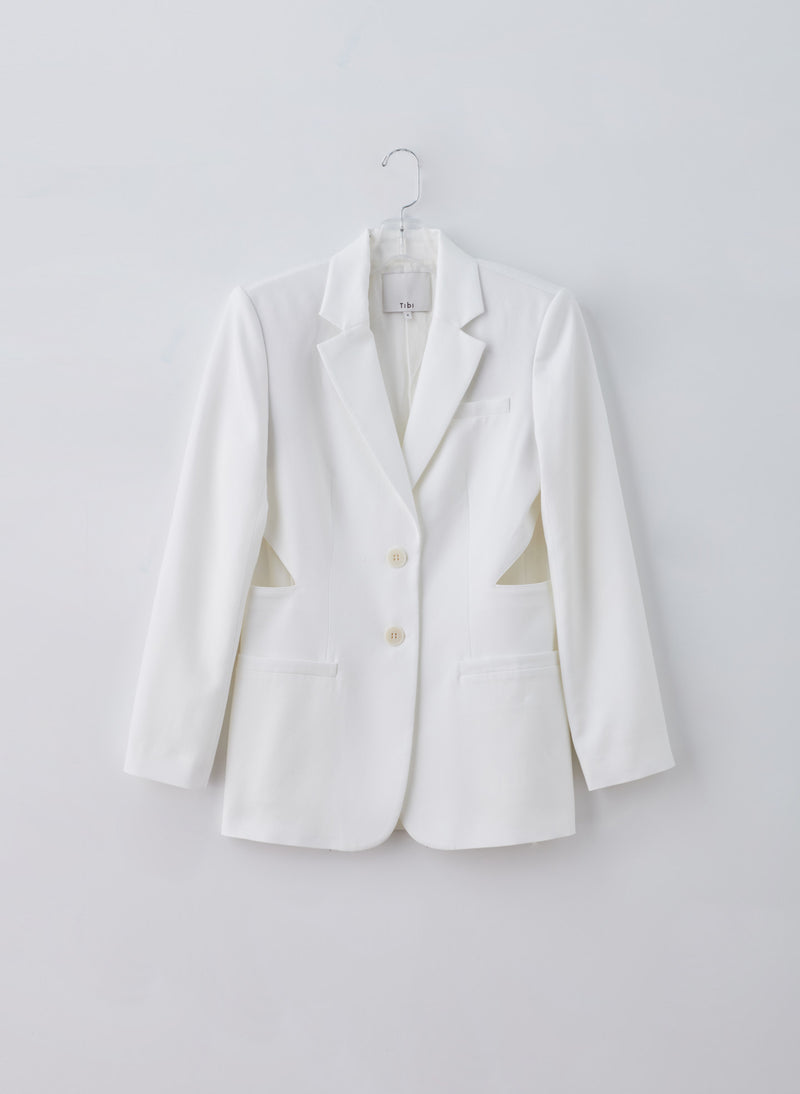Soft Spring Suiting Cutout Blazer Soft Spring Suiting Cutout Blazer