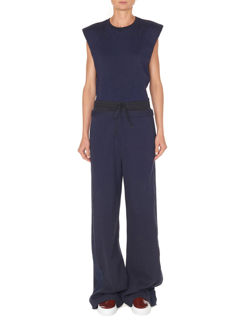 Double Waistband Sweatpant Navy-1