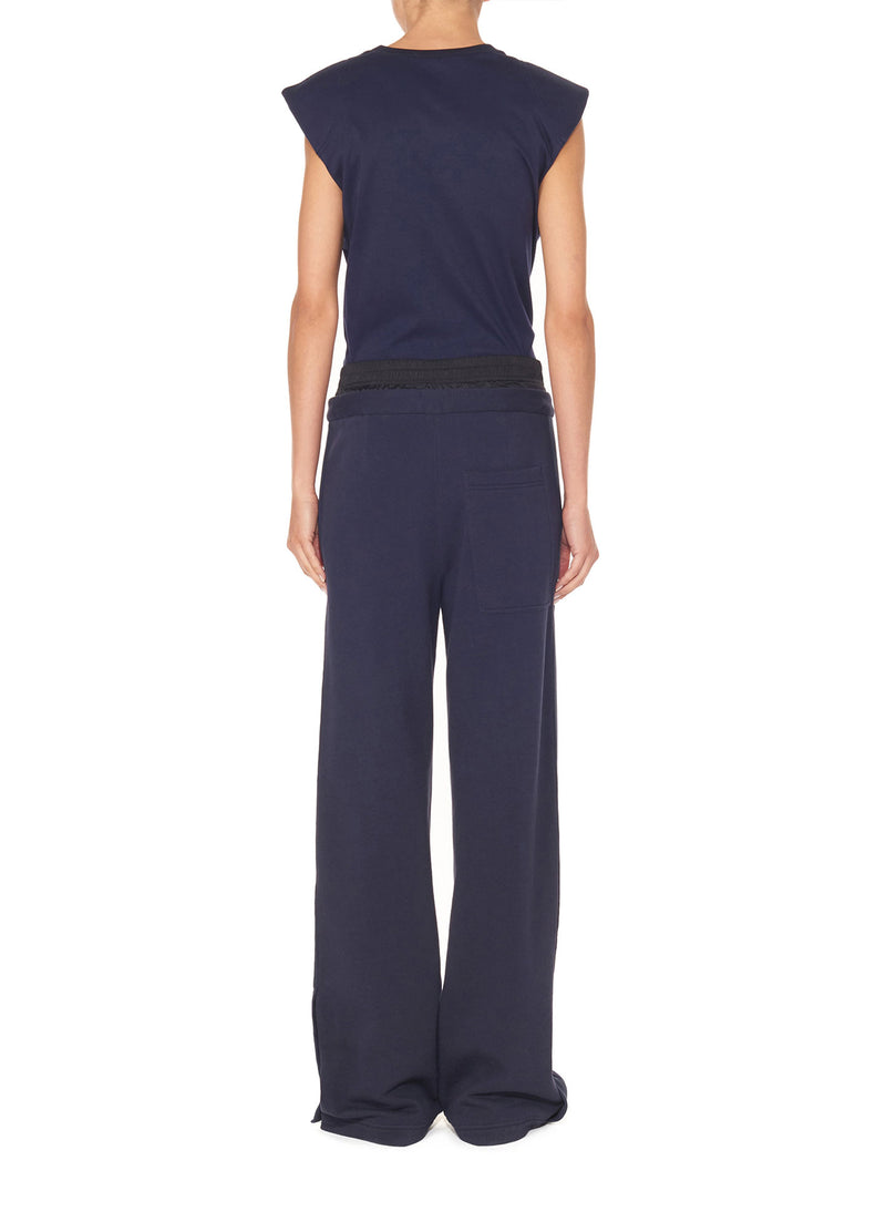 Double Waistband Sweatpant Navy-2