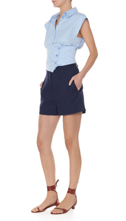 Margaux James Short Dark Navy-2