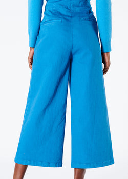 Garment Dyed Twill Cropped Wide Leg Jean Sky Blue-3