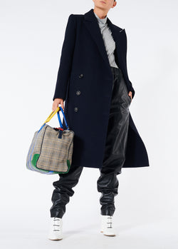 Giles Wool Coat Navy-4