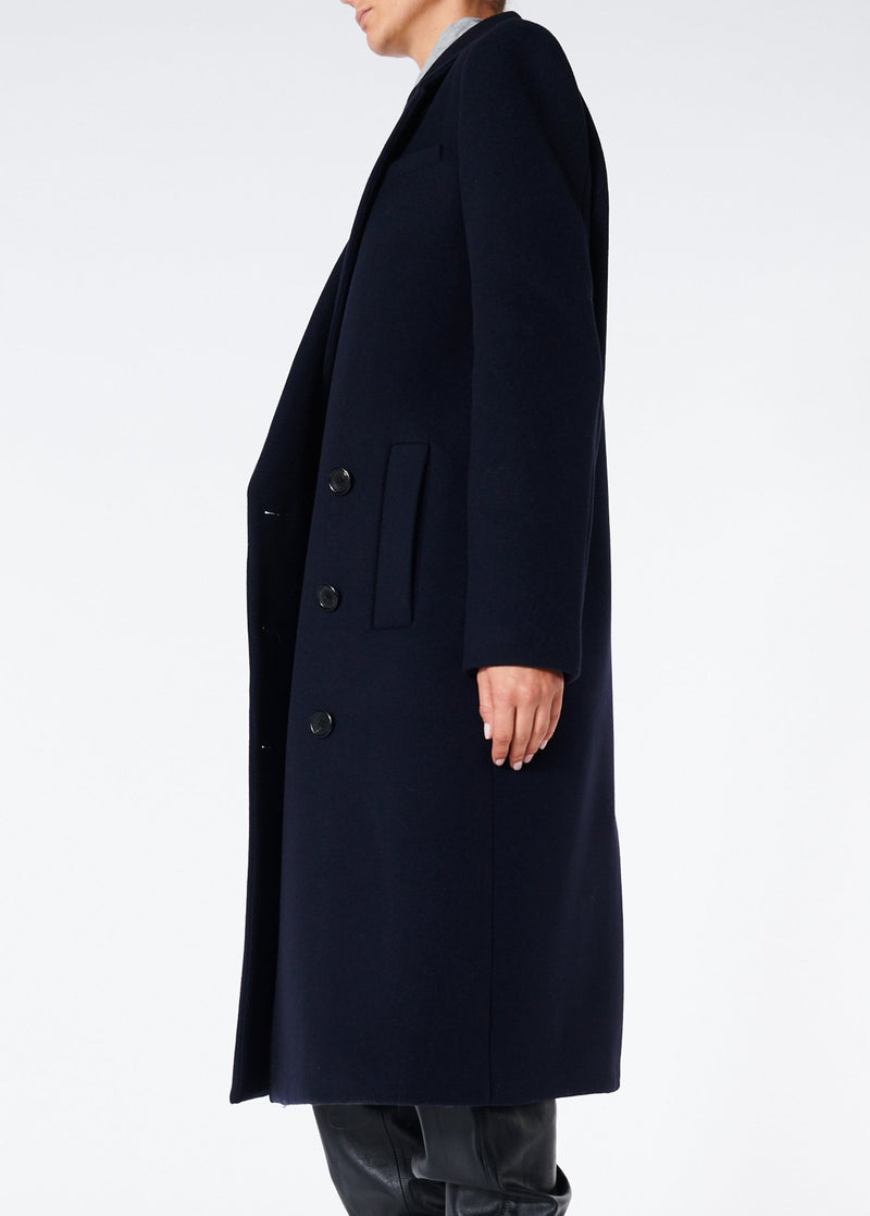 Giles Wool Coat Navy-3