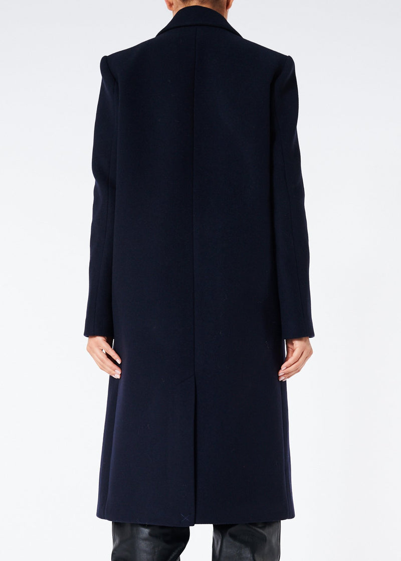 Giles Wool Coat Navy-2