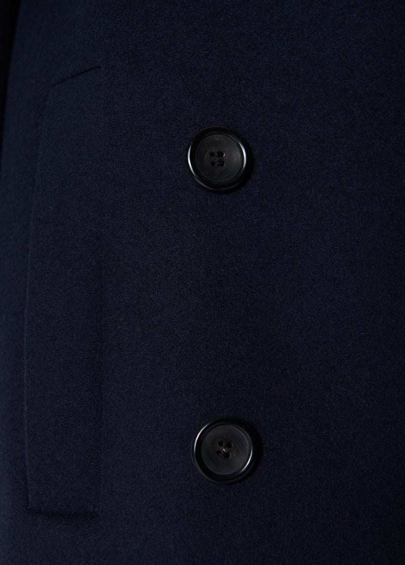 Giles Wool Coat Navy-5