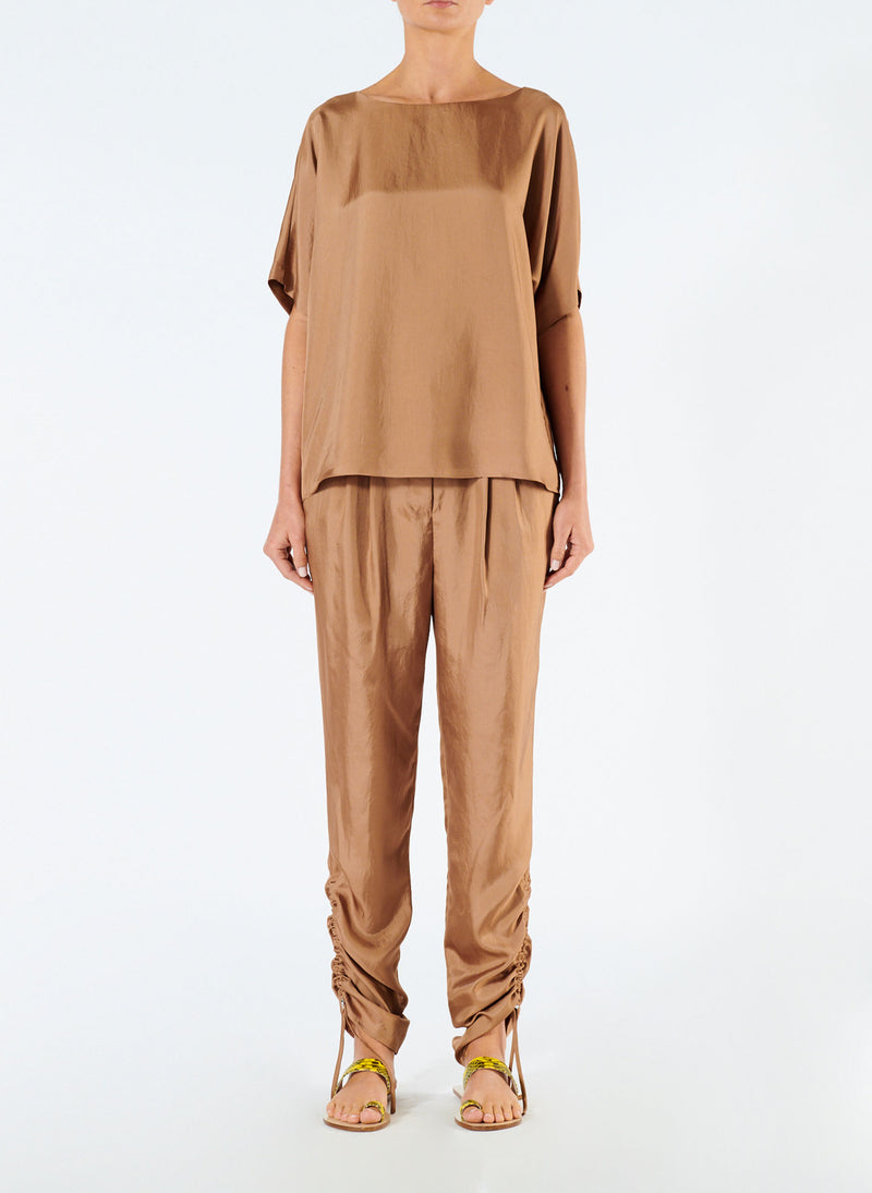 Mendini Twill Pleated Pant Sable Brown-1