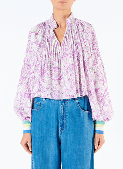 Isa Toile Cropped Edwardian Top Isa Toile Cropped Edwardian Top