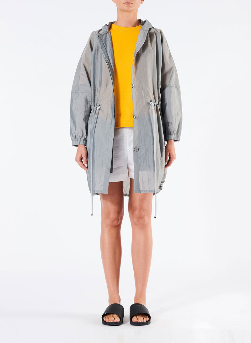 Tech Trench Luxe Anorak Grey-1