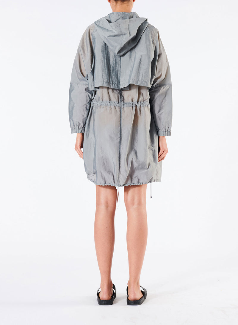 Tech Trench Luxe Anorak Grey-2
