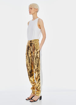 Sequin Pant Ivory/Gold Multi-2