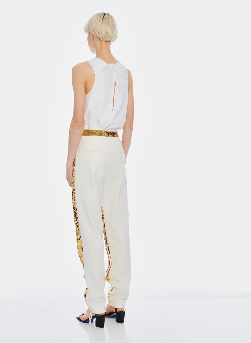 Sequin Pant Ivory/Gold Multi-5