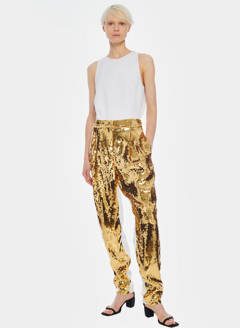 Sequin Pant Ivory/Gold Multi-1