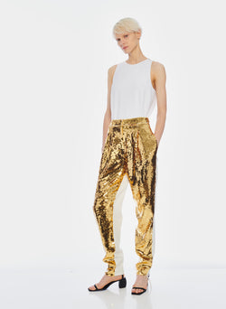 Sequin Pant Ivory/Gold Multi-6