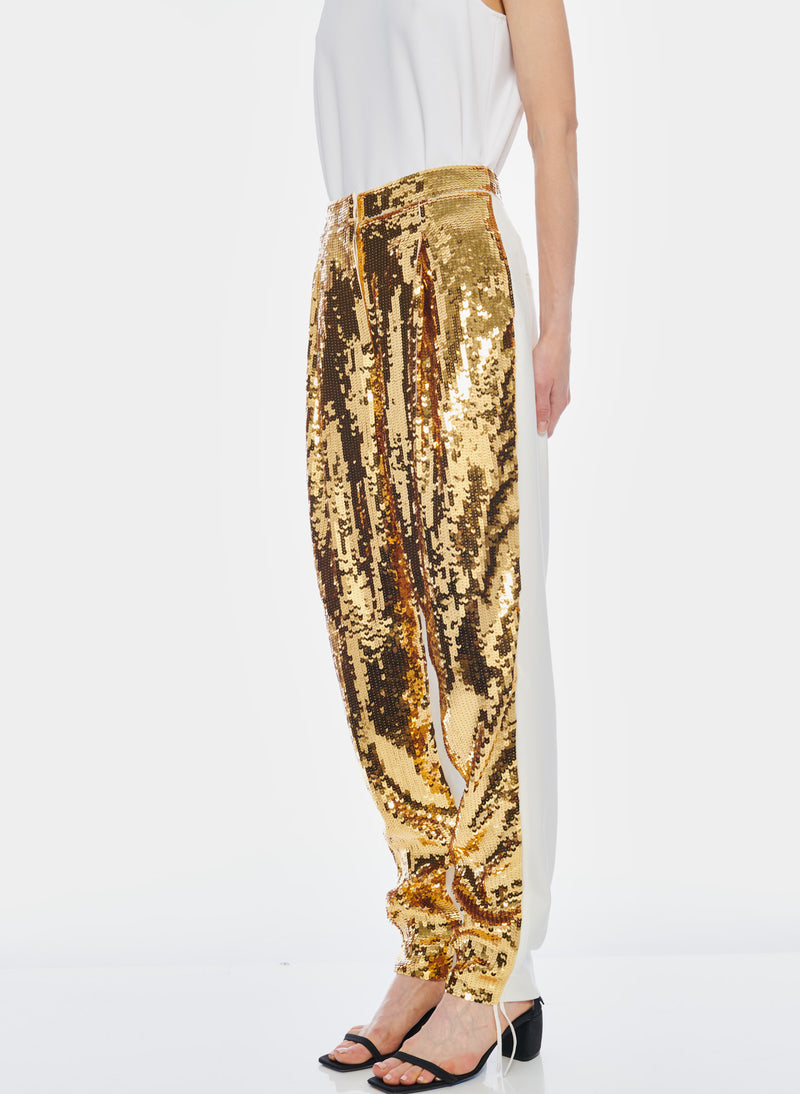 Sequin Pant Ivory/Gold Multi-3