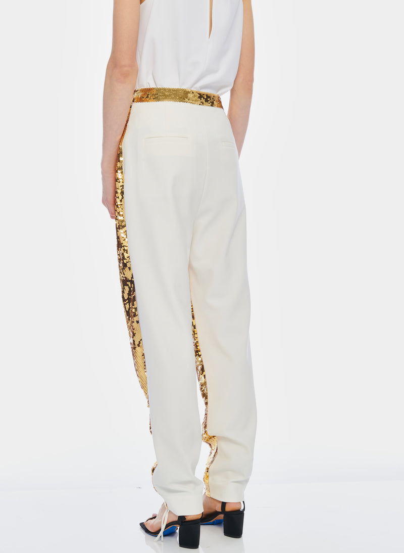 Sequin Pant Ivory/Gold Multi-4