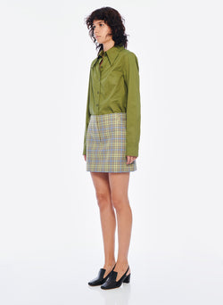 Recycled Menswear Check Mini Skirt Recycled Menswear Check Mini Skirt