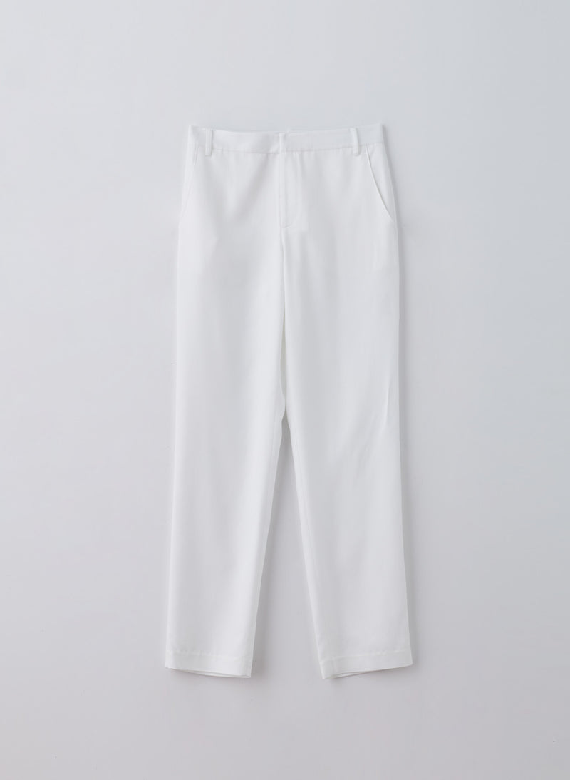 Soft Spring Suiting Easy Slouchy Pant White-5