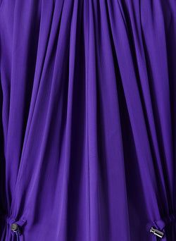 Viscose Georgette Midi Drawstring Dress Indigo Purple-4