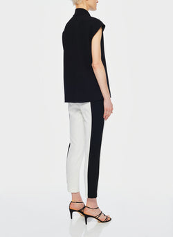 Anson Stretch Color Block Pant Ivory/Black Multi-11