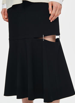 Anson Stretch Cut Out Skirt Black-11
