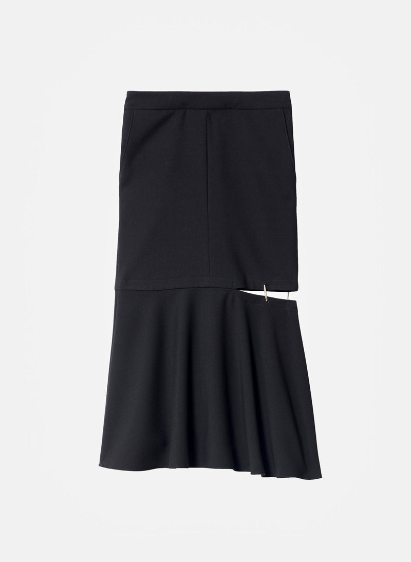 Anson Stretch Cut Out Skirt Black-13