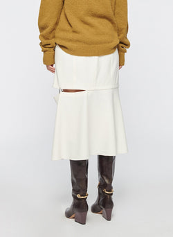 Anson Stretch Cut Out Skirt Ivory-3