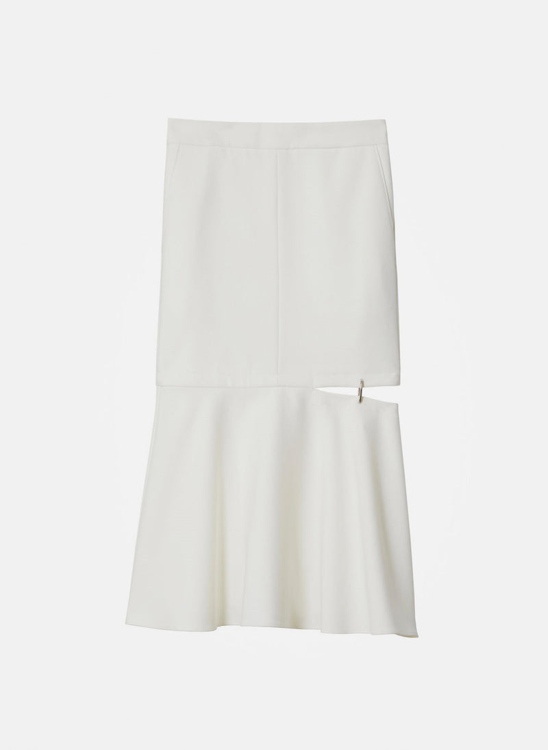 Anson Stretch Cut Out Skirt Ivory-6