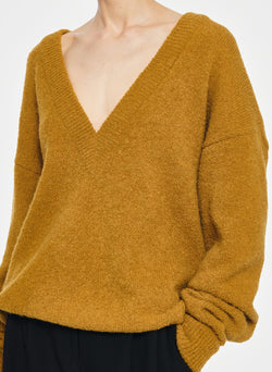 Airy Alpaca V-Neck Pullover Copper-13