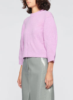Cozette Alpaca Cropped Pullover Mulberry-3