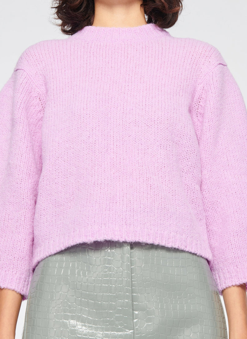 Cozette Alpaca Cropped Pullover Mulberry-5