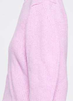 Cozette Alpaca Cropped Pullover Mulberry-6