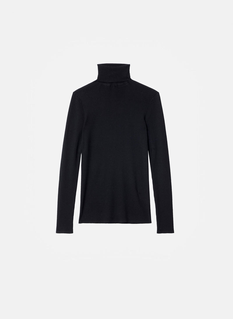 Feather Weight Ribbed Turtleneck Black-5
