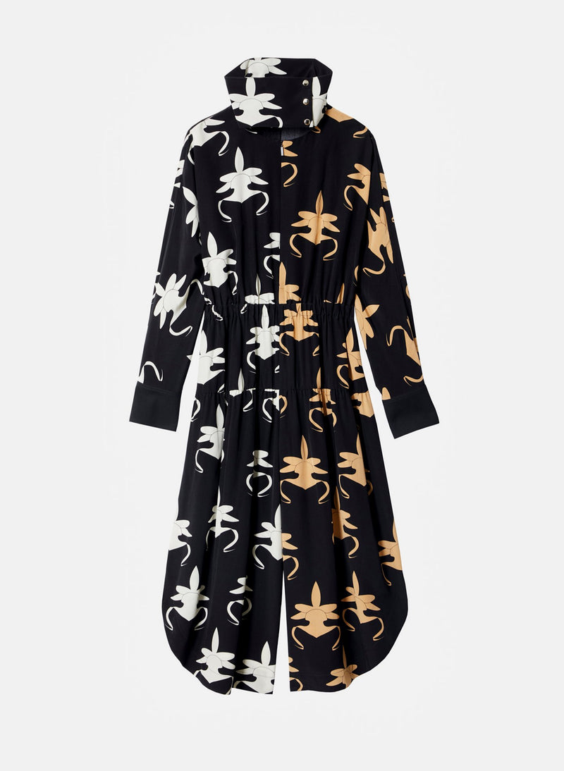 Ghost Orchid Jumpsuit Black/Ivory/Tan Multi-8