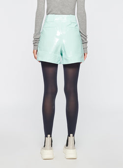 Leather Cargo Short Seafoam-3