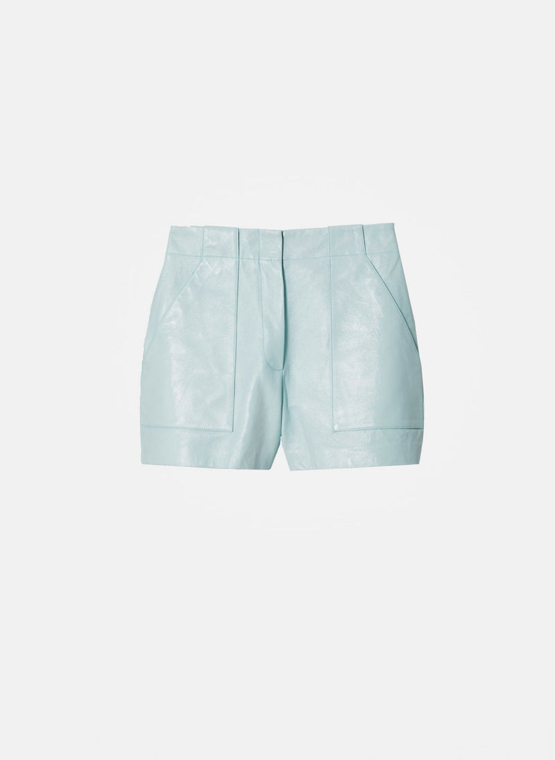Leather Cargo Short Seafoam-7