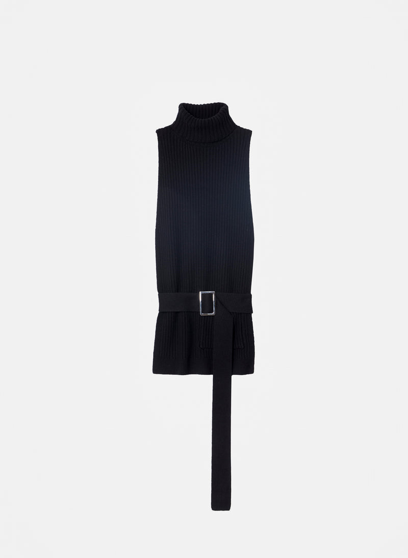 Merino Rib Turtleneck Dickey Black-9