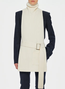 Merino Rib Turtleneck Dickey Ivory-10