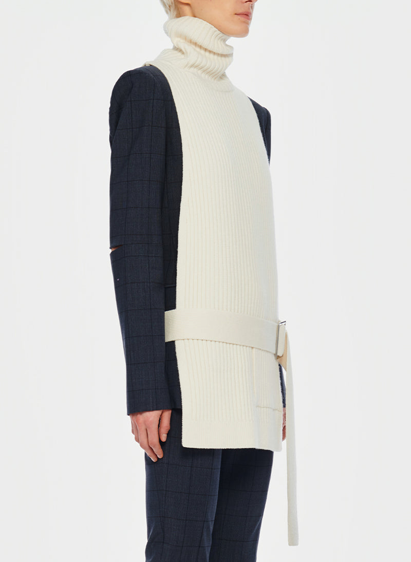 Merino Rib Turtleneck Dickey Ivory-11