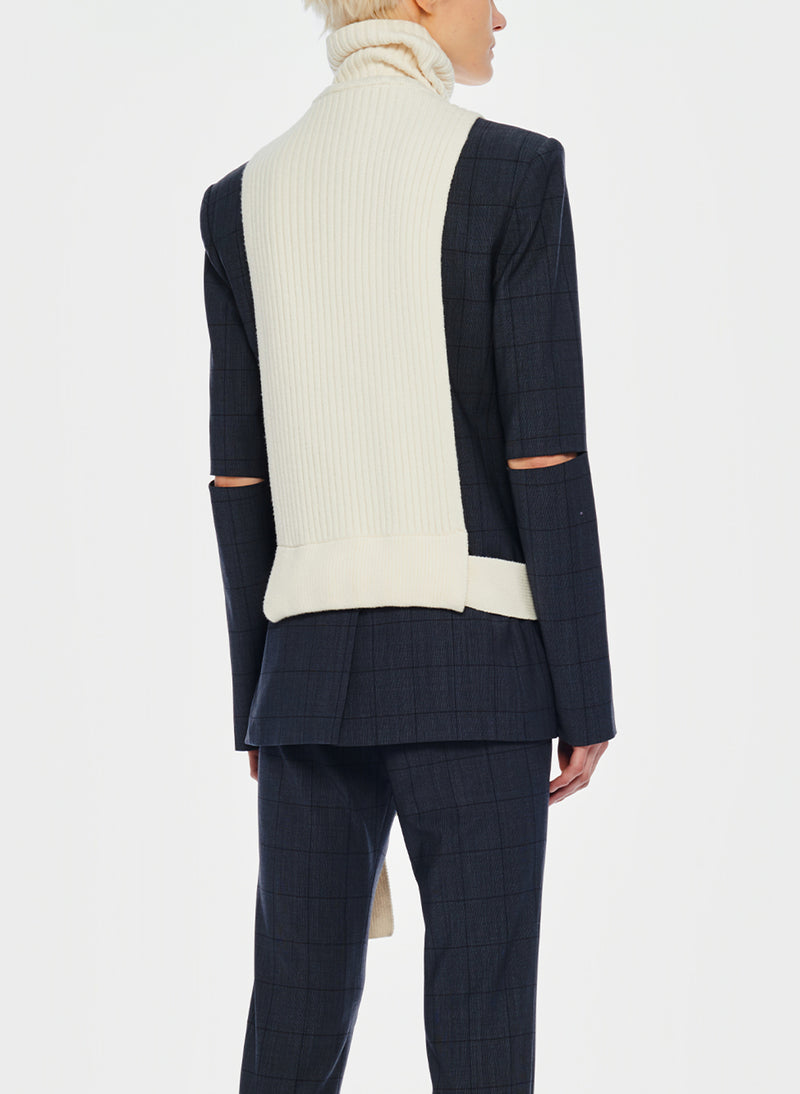 Merino Rib Turtleneck Dickey Ivory-12