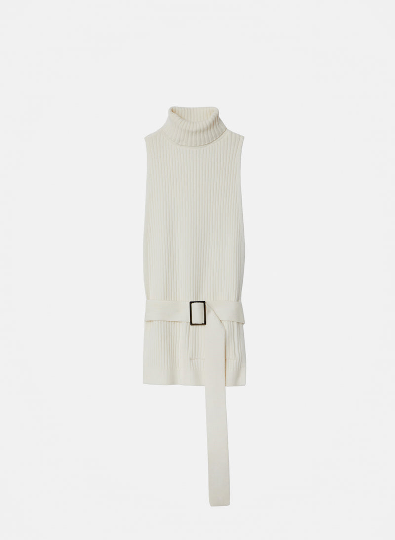 Merino Rib Turtleneck Dickey Ivory-14