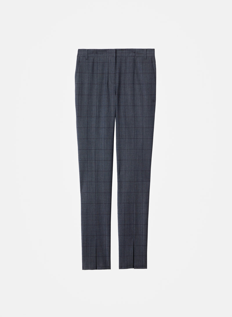 Menswear Windowpane Slim Pant Grey Multi-7