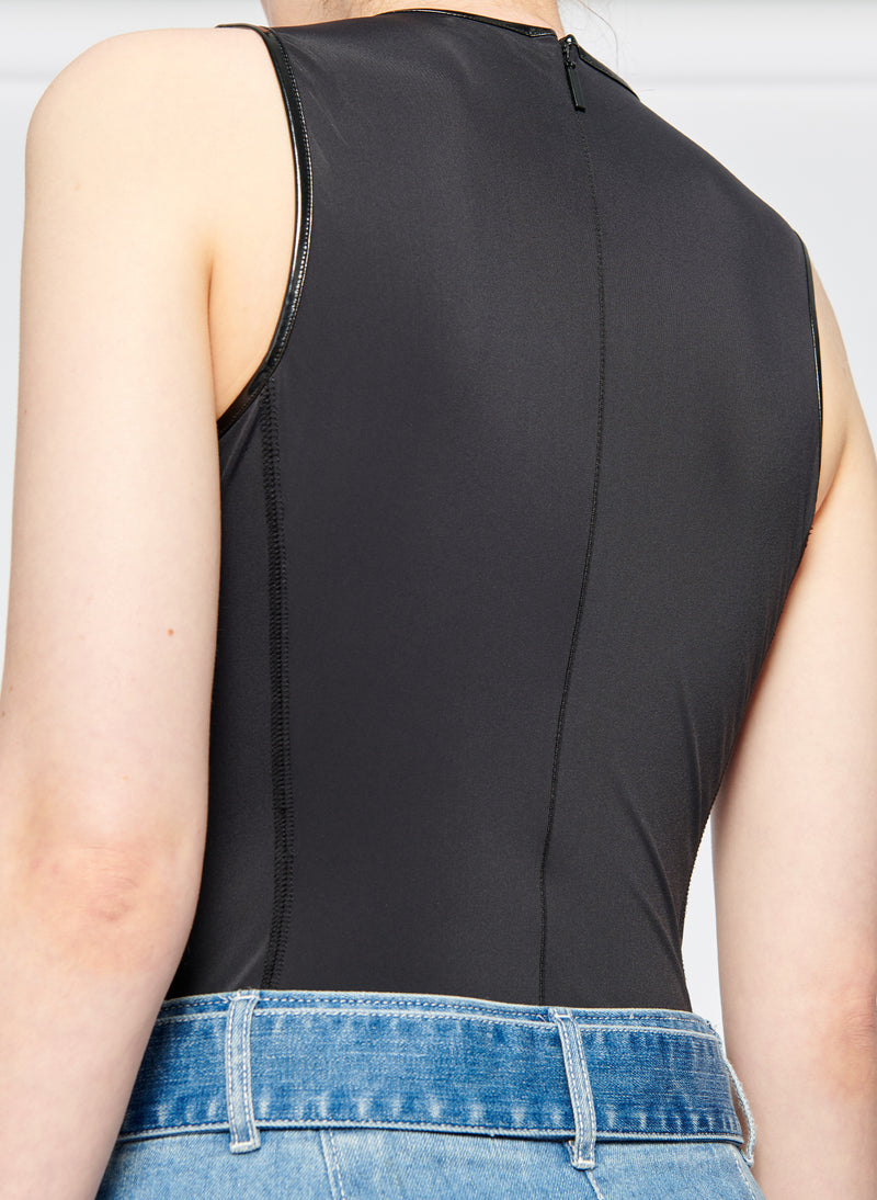 Tech Patent Bodysuit Black-5