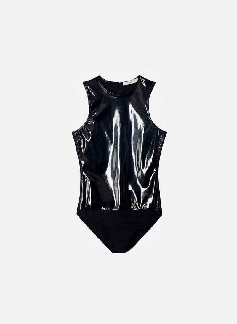 Tech Patent Bodysuit Black-7