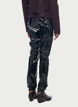 Tech Patent Skinny Pant Black-2