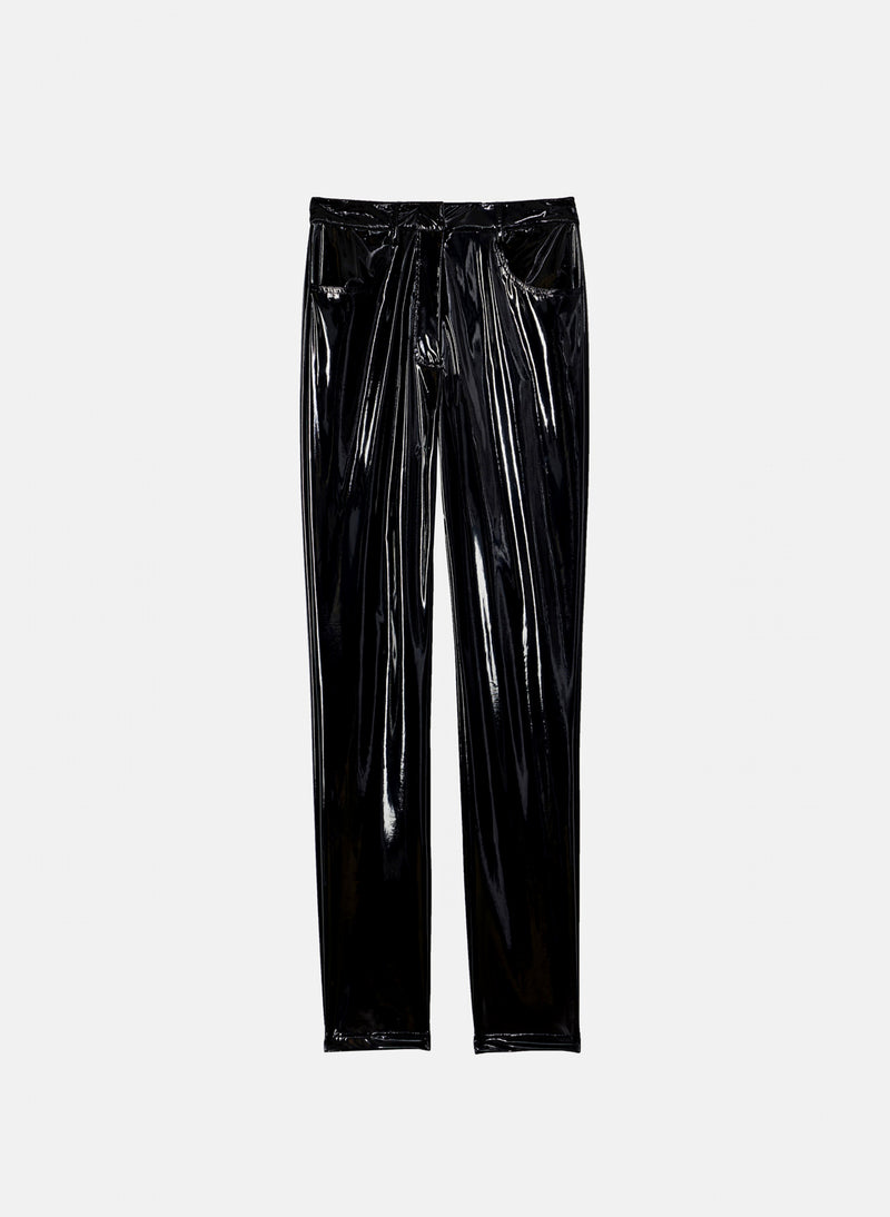 Tech Patent Skinny Pant Black-7